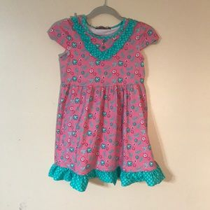 Pink Mermaid Bailey Dress Size 7 by Jelly the Pug